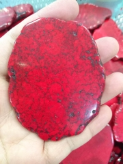 15-100mm  Hot Red Turquoise Stone Slab Freeform Blue Turquoise Cabochons pink red yellow blackTurquoise Jewelry turquoise pendant