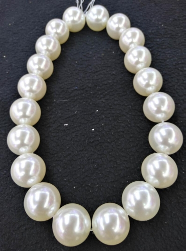 Promotion new South Sea white shell pearl 6mm~20mm round loose beads long 15/'/'